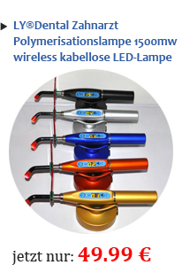 LY®Dental Zahnarzt Polymerisationslampe 1500mw wireless kabellose LED-Lampe