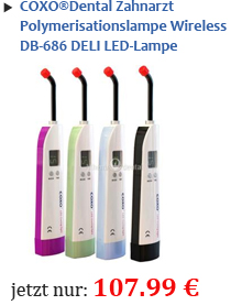 COXO®Dental Zahnarzt Polymerisationslampe Wireless DB-686 DELI LED-Lampe